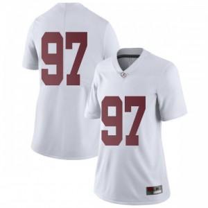 Women Alabama Crimson Tide Joseph Bulovas #97 College White Limited Football Jersey 586902-220