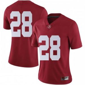 Women Alabama Crimson Tide Josh Jobe #28 College Crimson Limited Football Jersey 976977-646