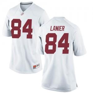 Women Alabama Crimson Tide Joshua Lanier #84 College White Game Football Jersey 158414-223