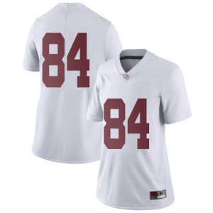 Women Alabama Crimson Tide Joshua Lanier #84 College White Limited Football Jersey 581142-179