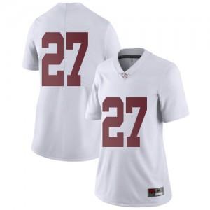 Women Alabama Crimson Tide Joshua Robinson #27 College White Limited Football Jersey 502945-456