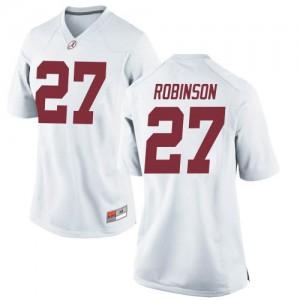 Women Alabama Crimson Tide Joshua Robinson #27 College White Replica Football Jersey 965444-118