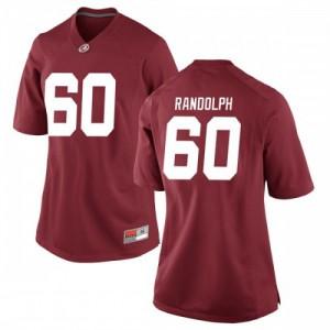 Women Alabama Crimson Tide Kendall Randolph #60 College Crimson Game Football Jersey 555617-741