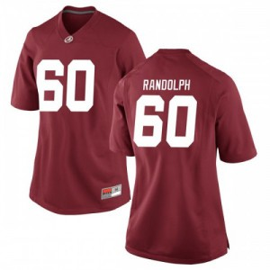Women Alabama Crimson Tide Kendall Randolph #60 College Crimson Replica Football Jersey 316394-823