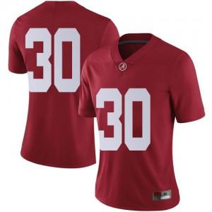 Women Alabama Crimson Tide King Mwikuta #30 College Crimson Limited Football Jersey 735548-320
