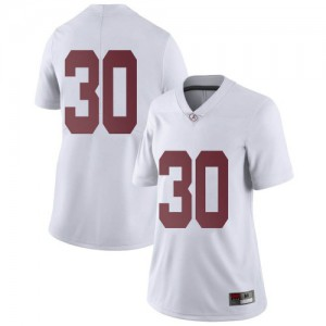 Women Alabama Crimson Tide King Mwikuta #30 College White Limited Football Jersey 581237-545