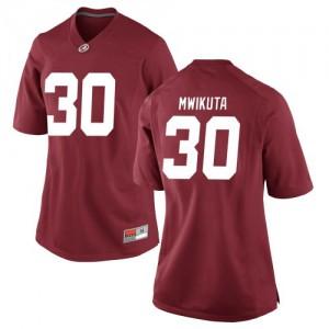 Women Alabama Crimson Tide King Mwikuta #30 College Crimson Replica Football Jersey 819697-276