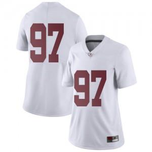 Women Alabama Crimson Tide LT Ikner #97 College White Limited Football Jersey 728672-349