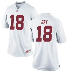 Women Alabama Crimson Tide Labryan Ray #18 College White Replica Football Jersey 798983-680