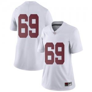Women Alabama Crimson Tide Landon Dickerson #69 College White Limited Football Jersey 264365-283