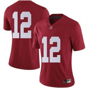 Women Alabama Crimson Tide Logan Burnett #12 College Crimson Limited Football Jersey 677719-357