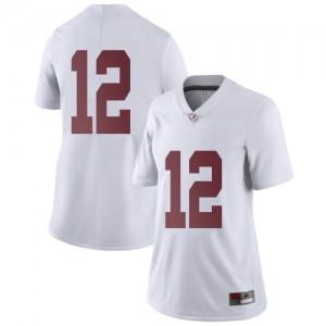 Women Alabama Crimson Tide Logan Burnett #12 College White Limited Football Jersey 550765-164