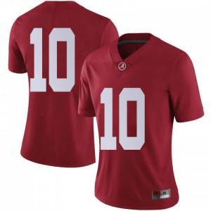 Women Alabama Crimson Tide Mac Jones #10 College Crimson Limited Football Jersey 412921-815