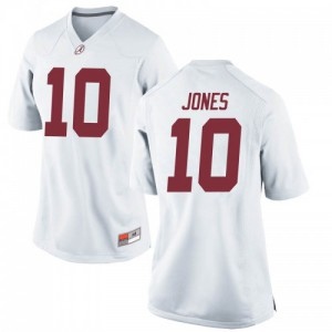 Women Alabama Crimson Tide Mac Jones #10 College White Replica Football Jersey 968906-833