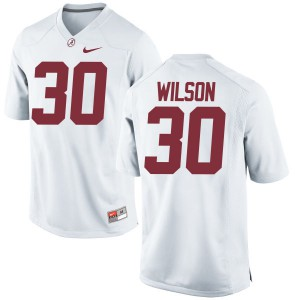 Women Alabama Crimson Tide Mack Wilson #30 College White Replica Football Jersey 807633-424