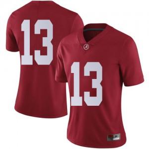 Women Alabama Crimson Tide Malachi Moore #13 College Crimson Limited Football Jersey 843211-531