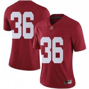 Women Alabama Crimson Tide Markail Benton #36 College Crimson Limited Football Jersey 861279-868