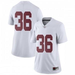 Women Alabama Crimson Tide Markail Benton #36 College White Limited Football Jersey 910616-665