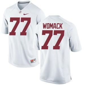 Women Alabama Crimson Tide Matt Womack #77 College White Authentic Football Jersey 486816-785