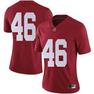 Women Alabama Crimson Tide Melvin Billingsley #46 College Crimson Limited Football Jersey 700557-957
