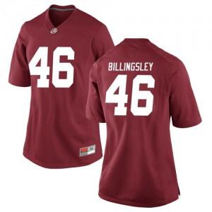 Women Alabama Crimson Tide Melvin Billingsley #46 College Crimson Replica Football Jersey 960649-331
