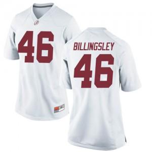 Women Alabama Crimson Tide Melvin Billingsley #46 College White Replica Football Jersey 563891-967