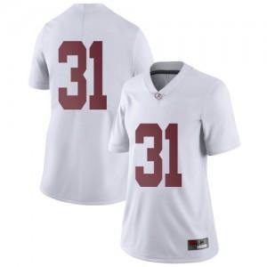 Women Alabama Crimson Tide Michael Collins #31 College White Limited Football Jersey 602315-921