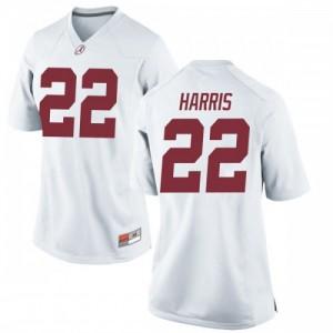 Women Alabama Crimson Tide Najee Harris #22 College White Game Football Jersey 362555-285