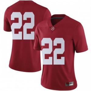 Women Alabama Crimson Tide Najee Harris #22 College Crimson Limited Football Jersey 838080-279