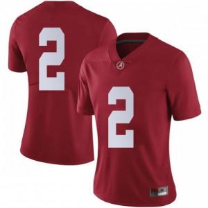 Women Alabama Crimson Tide Patrick Surtain II #2 College Crimson Limited Football Jersey 683370-956