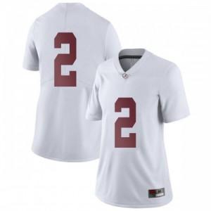 Women Alabama Crimson Tide Patrick Surtain II #2 College White Limited Football Jersey 813238-124