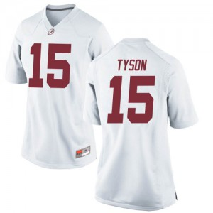 Women Alabama Crimson Tide Paul Tyson #15 College White Game Football Jersey 124018-158