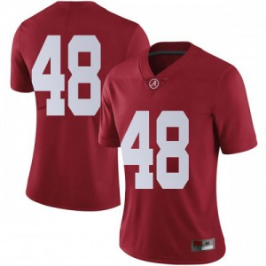 Women Alabama Crimson Tide Phidarian Mathis #48 College Crimson Limited Football Jersey 529576-533