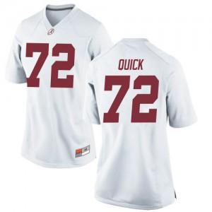 Women Alabama Crimson Tide Pierce Quick #72 College White Replica Football Jersey 365507-130