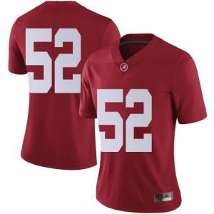 Women Alabama Crimson Tide Preston Malone #52 College Crimson Limited Football Jersey 981019-740