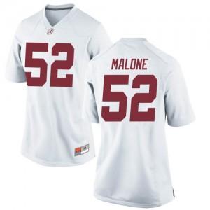 Women Alabama Crimson Tide Preston Malone #52 College White Replica Football Jersey 338122-215