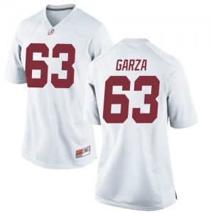 Women Alabama Crimson Tide Rowdy Garza #63 College White Game Football Jersey 887229-938