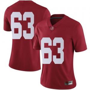 Women Alabama Crimson Tide Rowdy Garza #63 College Crimson Limited Football Jersey 385079-222