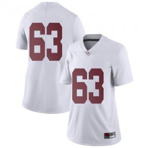 Women Alabama Crimson Tide Rowdy Garza #63 College White Limited Football Jersey 894403-743