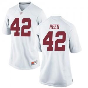 Women Alabama Crimson Tide Sam Reed #42 College White Replica Football Jersey 633466-135