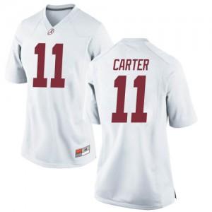 Women Alabama Crimson Tide Scooby Carter #11 College White Game Football Jersey 133218-578