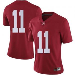 Women Alabama Crimson Tide Scooby Carter #11 College Crimson Limited Football Jersey 791424-125