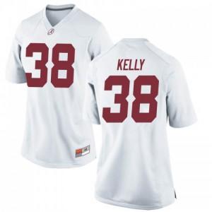 Women Alabama Crimson Tide Sean Kelly #38 College White Game Football Jersey 803918-483