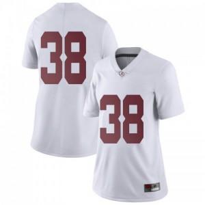 Women Alabama Crimson Tide Sean Kelly #38 College White Limited Football Jersey 305116-978