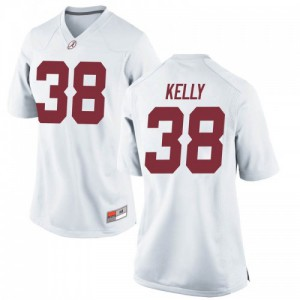 Women Alabama Crimson Tide Sean Kelly #38 College White Replica Football Jersey 803555-185