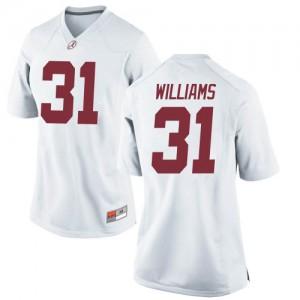 Women Alabama Crimson Tide Shatarius Williams #31 College White Replica Football Jersey 473922-951
