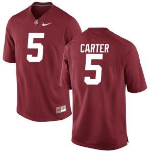 Women Alabama Crimson Tide Shyheim Carter #5 College Crimson Game Football Jersey 427560-821