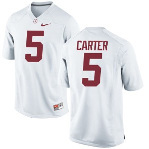 Women Alabama Crimson Tide Shyheim Carter #5 College White Limited Football Jersey 477771-878