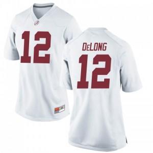 Women Alabama Crimson Tide Skyler DeLong #12 College White Game Football Jersey 703607-189