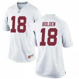 Women Alabama Crimson Tide Slade Bolden #18 College White Replica Football Jersey 973562-319